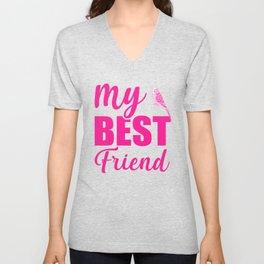 My Best Friend Is A Budgie mag Unisex V-Neck