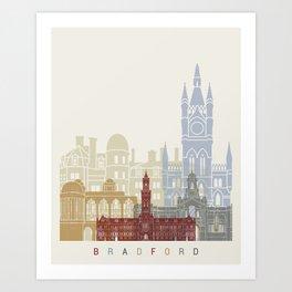 Bradford skyline poster Art Print