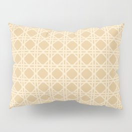 Cane Rattan Lattice in Neutral Natural Pillow Sham