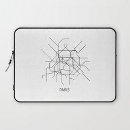 Paris map poster, map of paris poster, paris map, paris city map, paris print, map wall art Laptop Sleeve