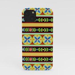 Elizabethan Folkloric Stripe iPhone Case