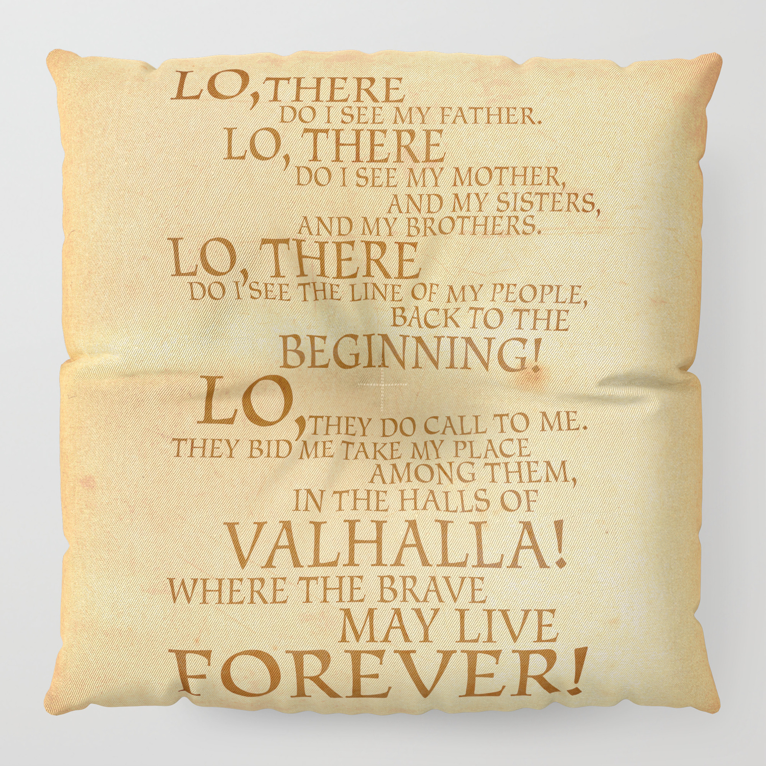 Viking Prayer Floor Pillow