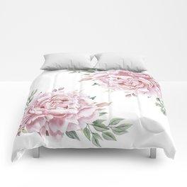 Pink Roses Duet Comforters