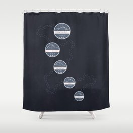Highest Mountains on Earth Shower Curtain