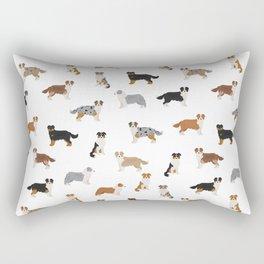 Australian Shepherd Colors Pattern Rectangular Pillow