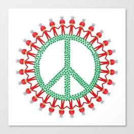 Peace Weed Mushroom Canvas Print