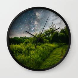 Painted Grass Wall Clock
