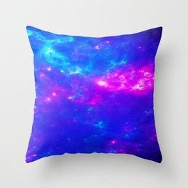 Dreamlike Skygazing Galaxy Space Throw Pillow