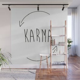 karma do good things what you do comes back to you inspired new 2018 wisdom simple word concept idea Wall Mural