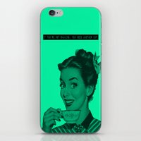humor iPhone & iPod Skins featuring coffee humor by Whitney Duvall