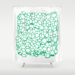 Random Foam (Old Palmolive) Shower Curtain