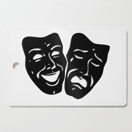 Theater Masks of Comedy and Tragedy Cutting Board