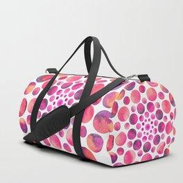Circles Mandala - Pink Duffle Bag