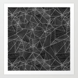 Spiderwebs - Webs in black and white Art Print