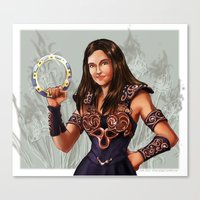 xena Canvas Prints featuring Allison as Xena by littlecofiegirl