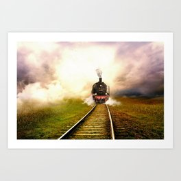 Chuu Chuu Train Art Print