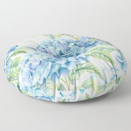 Blue Hydrangea Floor Pillow