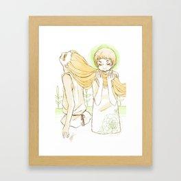 a warm heart Framed Art Print