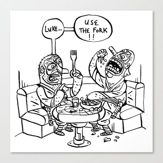 the ultimate joke - black & white Canvas Print