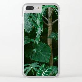Botanical Jungle Clear iPhone Case