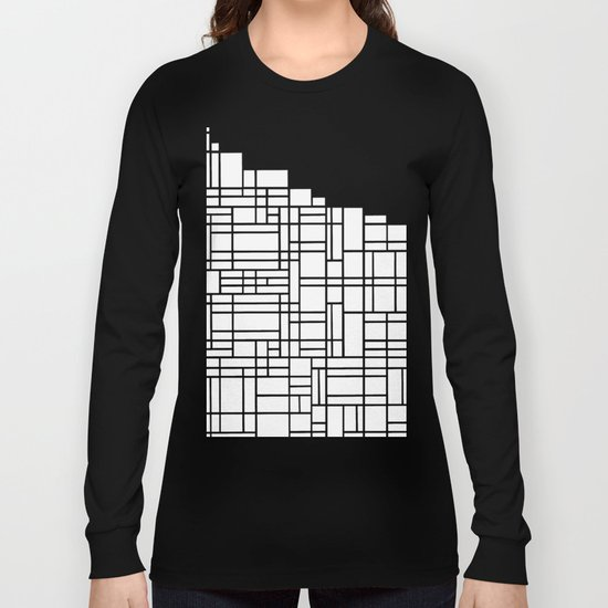 Map Black Boarder Long Sleeve T-shirt