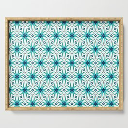 Appealing Teal Serving Tray