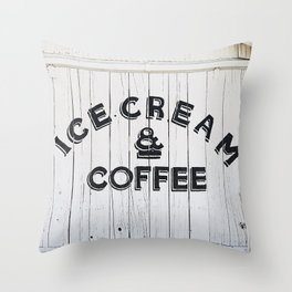 Ice Cream & Coffee Throw Pillow