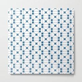 Block Pattern Metal Print