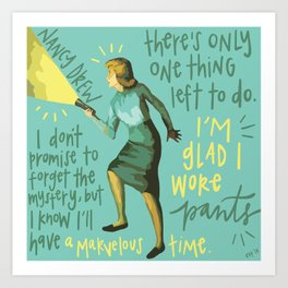 Nancy Drew. Art Print