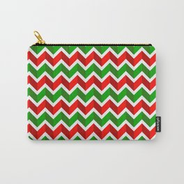 Christmas Pattern 4 Christmas chevrons Carry-All Pouch