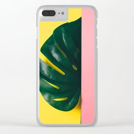 Half of palm leaf Clear iPhone Case