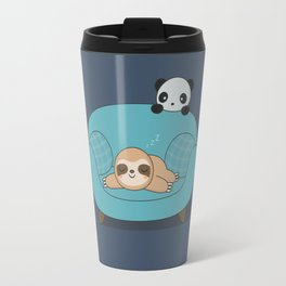 Kawaii Cute Panda And Sloth Travel Mug