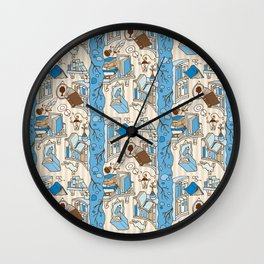 Books: Through the rabbit hole_Blue Sky and Cocoa Wall Clock