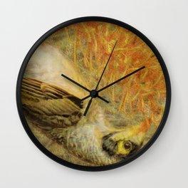 Australian Noisy Miner Wall Clock