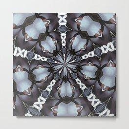 Shades Of Blue Kaleidoscope Metal Print