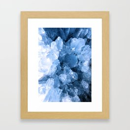 Celestite Blue Framed Art Print