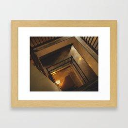 Kathmandu City - Architecture 01 - Stairs Framed Art Print