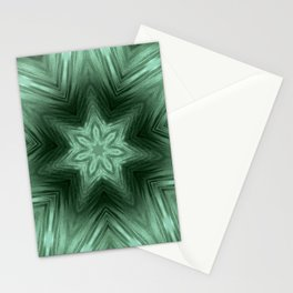 Green Star Flower Blossom Metallic Color #Pattern #Background Stationery Cards