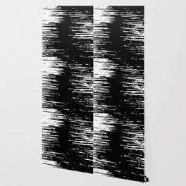 Splash White on Black Wallpaper
