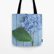 Powder Blue Hydrangea Tote Bag