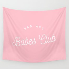 BADASS BABES CLUB PINK Wall Tapestry