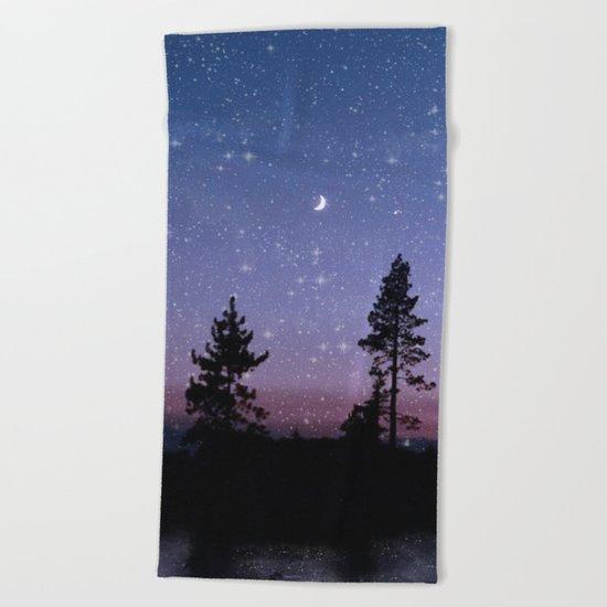 Twilight Forest Beach Towel