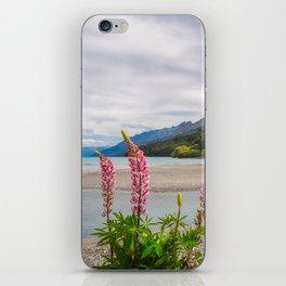 Lupin flowers in alpine scenery at Kinloch, NZ. iPhone Skin