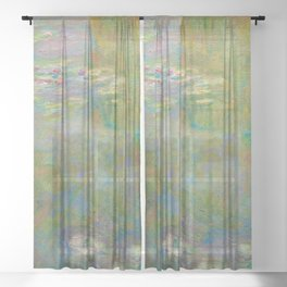 Claude Monet - Water Lily Pond Sheer Curtain