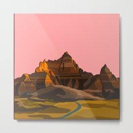 Badlands National Park / Grand Canyon Sunset Metal Print
