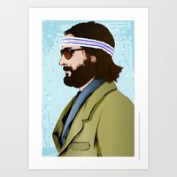 tenenbaum Art Prints featuring Richie Tenenbaum by The Art Warriors