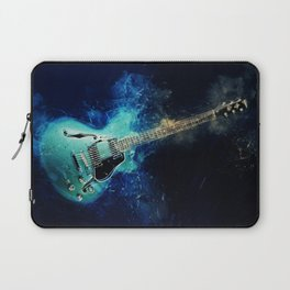 Electric Blue Guitar Laptop Sleeve