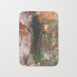 Dark Presence, Abstract Art Painting, Itaya Bath Mat