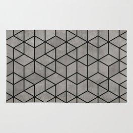 Hexagon concrete cubes Rug