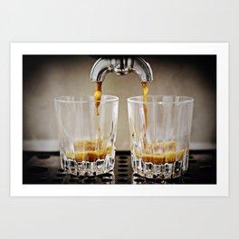 Brewing Espresso Art Print